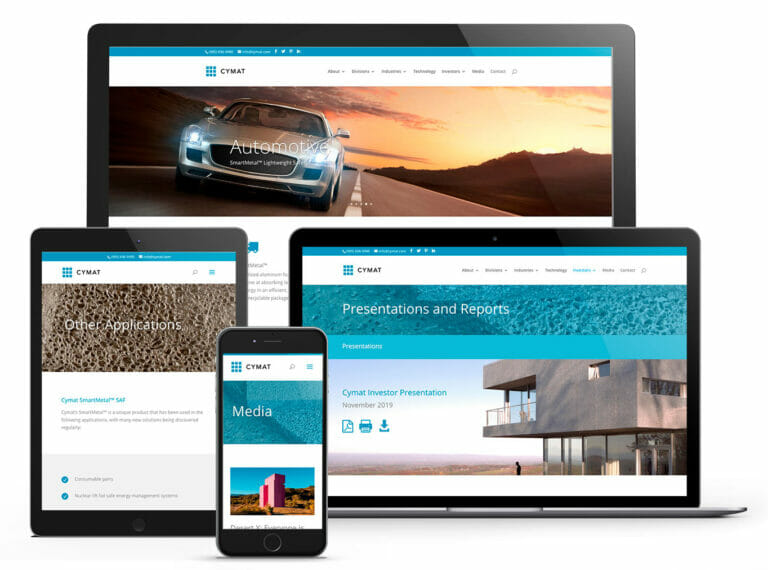 Cymat Website images